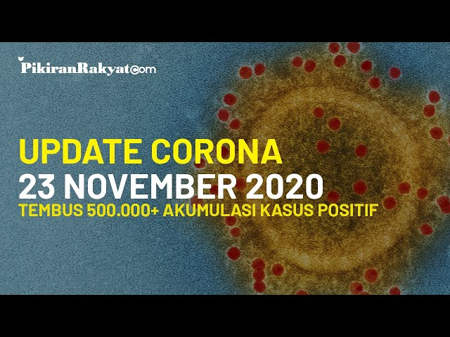BREAKING NEWS! Update Corona Covid-19 Indonesia 23 November, Tembus 502.110 Akumulasi Kasus Positif