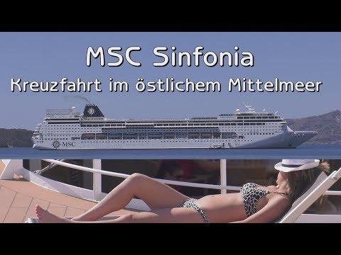 MSC Kreuzfahrt  - Route östliches Mittelmeer (Long)