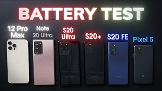 BATTERY Life Test: iPhone 12 Pro Max vs Samsung Galaxy Note 20 Ultra / S20 series vs Pixel 5