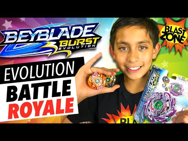 Beyblade Burst Evolution Battle Royale!  Hasbro Beyblade Evolution Tournament & Unboxing!