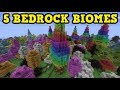 Minecraft Xbox / PE - Top 5 EXCLUSIVE Biomes (In Bedrock)