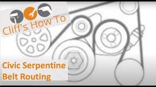 Civic Serpentine Belt Routing Diagram 2005 2011 Youtube