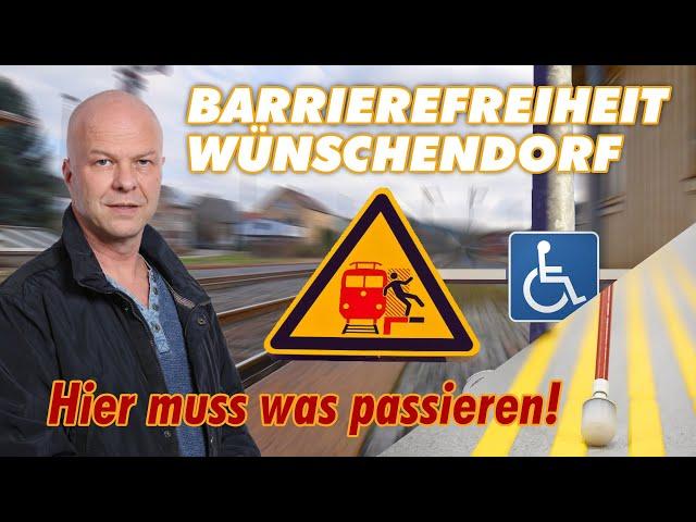 Bahnhof Wünschendorf - Hier muss was passieren!