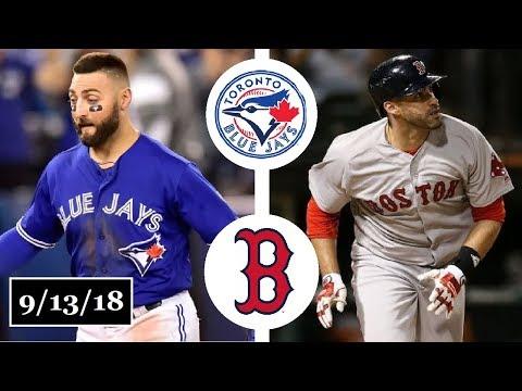 Toronto Blue Jays vs Boston Red Sox Highlights || September 13, 2018