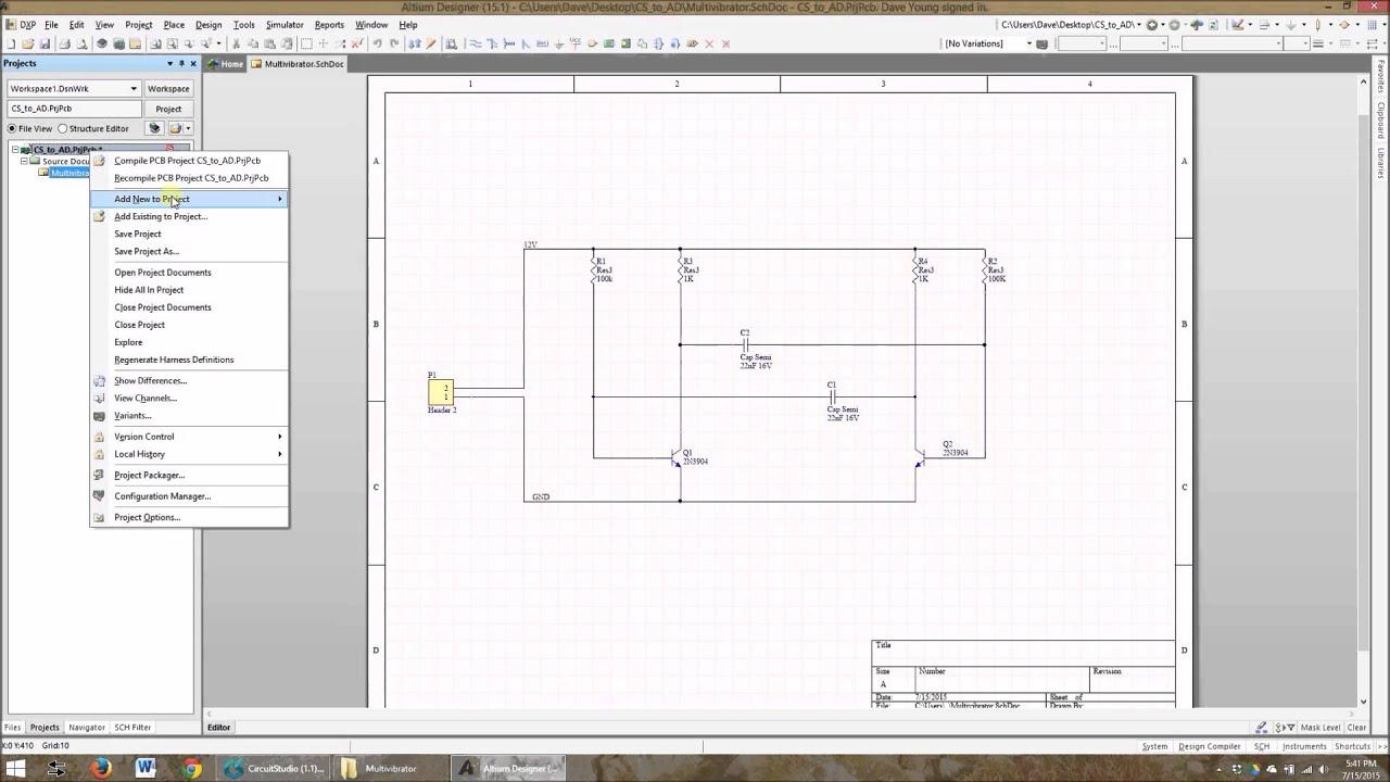 Importing Altium Circuit Studio files to Altium