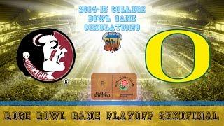Rose Bowl Game Playoff Semifinal Sim - Oregon vs Florida State (NCAA Football 14 - Xbox 360)
