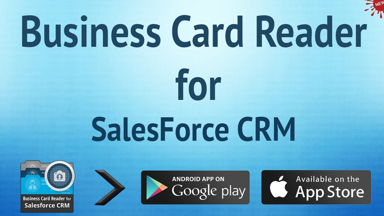 business card reader for salesforce crm youtube - Salesforce Business Card Scanner