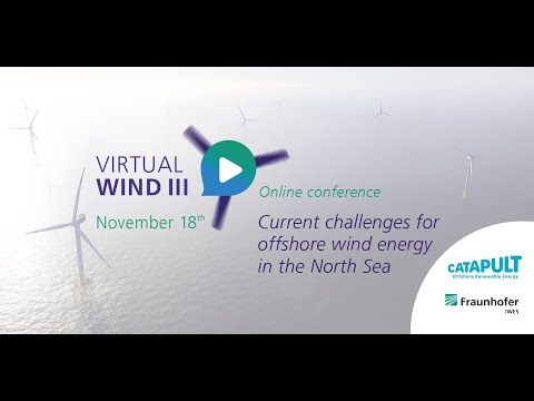 VirtualWind III online conference: Current challenges for offshore wind energy in the North Sea