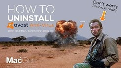 How to uninstall Avast Anti-virus from Mac - Guide