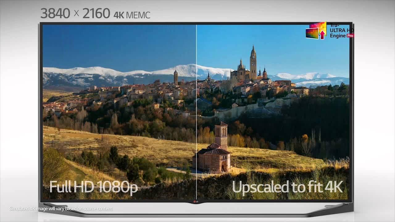 LG 4K Ultra HD TV- Ultra HD Engine Pro Upscaling - YouTube