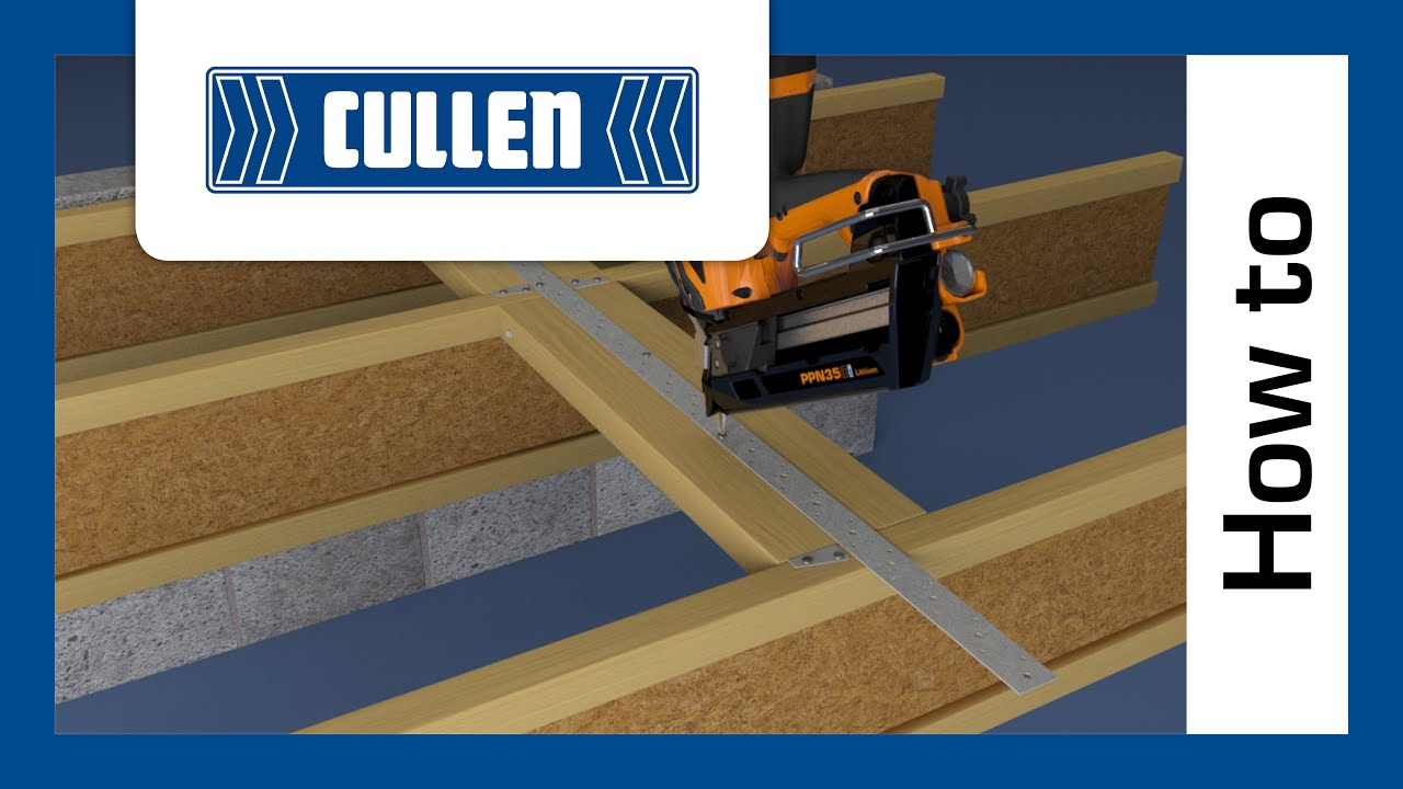 How to install a Cullen PFS strap surface fixed to I-Joists - YouTube
