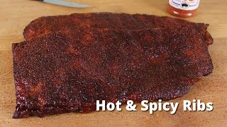 Spicy Rib Recipe  Smoking Spicy Ribs on Big Green Egg