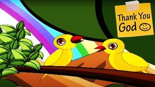 Thank You God Nursery Rhyme - Animation Songs For Children