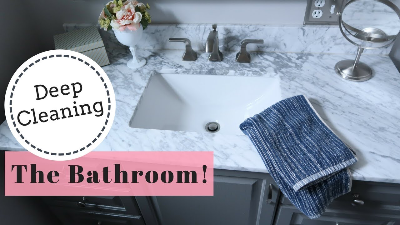 DEEP CLEANING & DECLUTTERING THE BATHROOM | Clean with me! | Lynette ...
