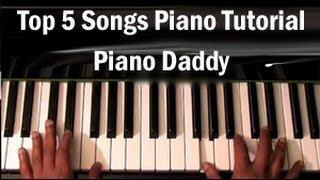 Top 5  Hindi Songs Piano Tutorial ~ Piano Daddy
