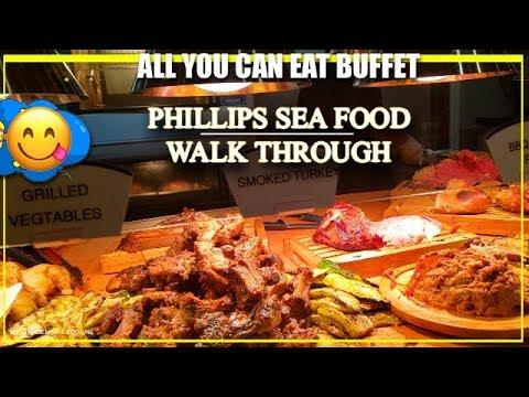 Phillips Seafood CRAB HOUSE All You Can Eat BUFFET Walkthrough. Ocean City-The Garden Of Feodora
