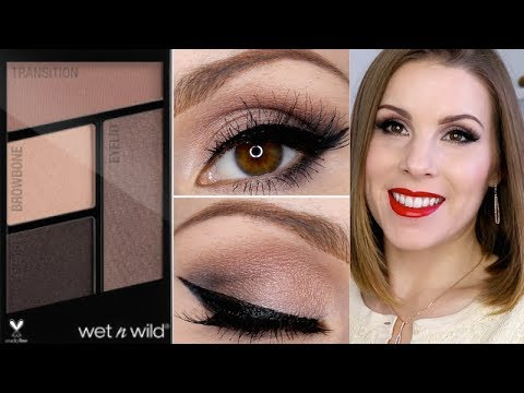 Holiday Bombshell Makeup Tutorial   NEW Wet N Wild Silent Treatment Eyeshadow Tutorial