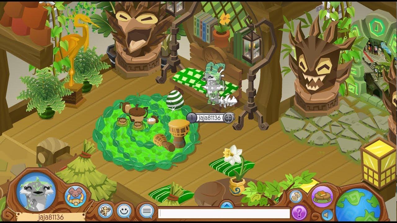 Animal Jam Den Decorating Small House Tiki Nature Theme Youtube
