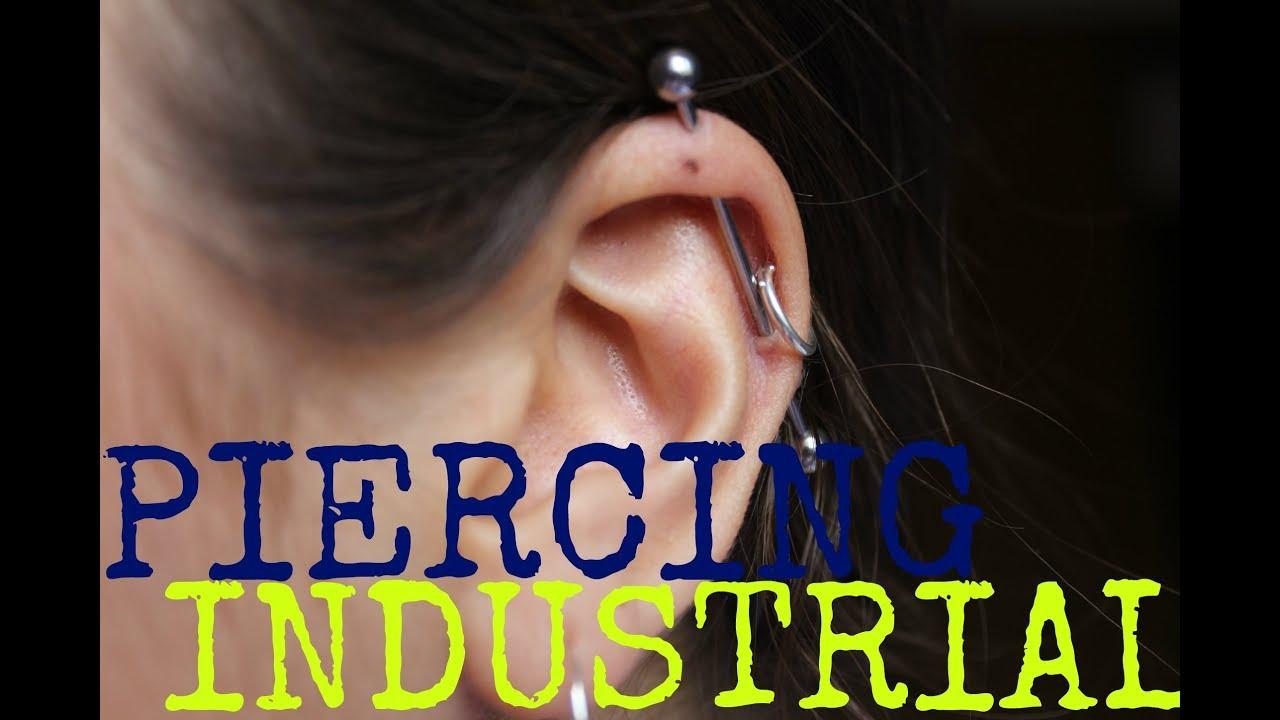 como cuidar un piercing en la oreja industrial
