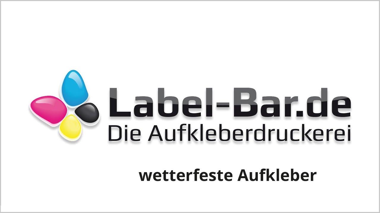Wetterfeste Wetterbeständige Aufkleber Label Barde