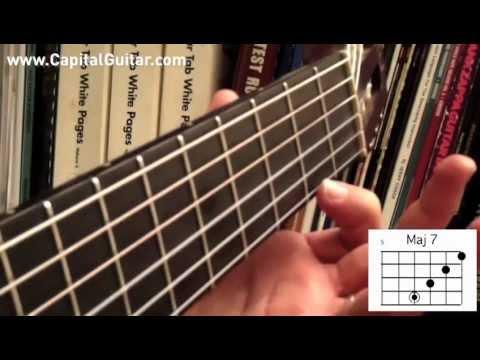 66 Bossa Nova Guitar Chords Pt 1 Major Voicings Youtube