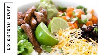 Steak Burrito Bowls | Six Sisters Stuff