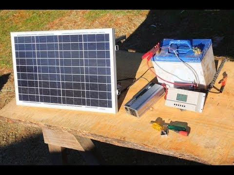 How to build  a basic portable solar power system -camping,b