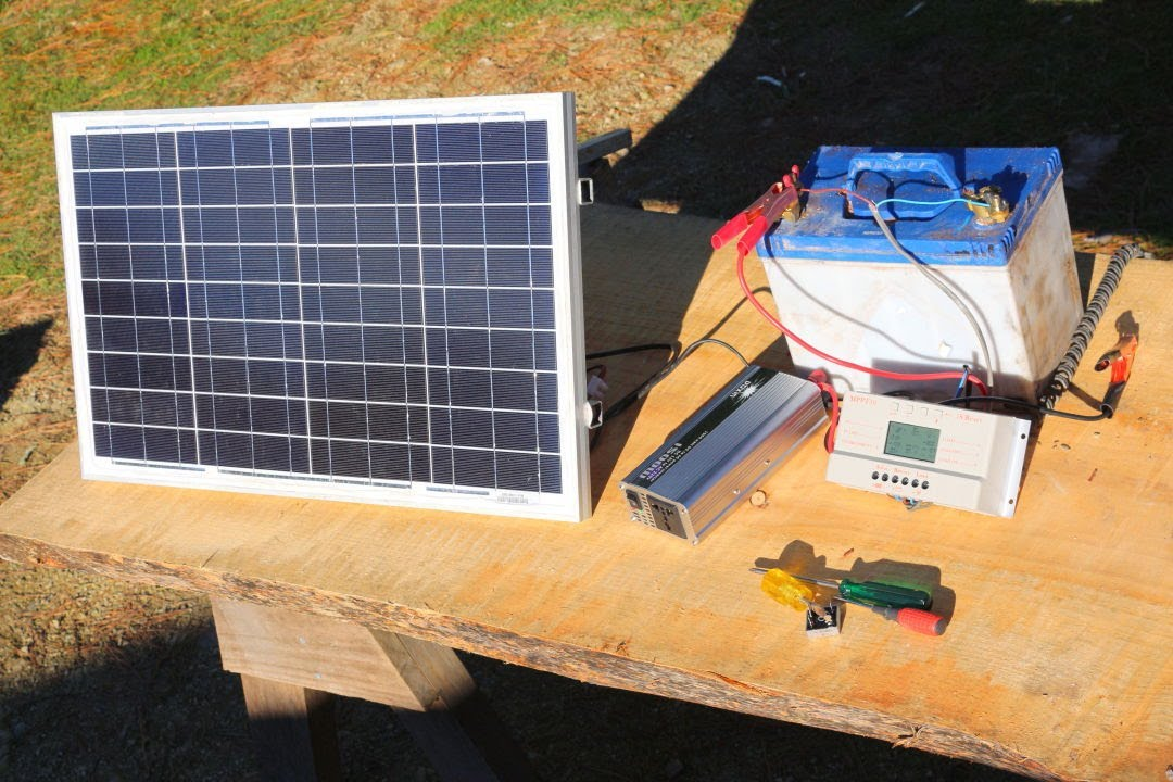 How to build a basic portable solar power system -c&ingboatingoff grid living- - YouTube & How to build a basic portable solar power system -campingboating ...