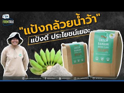 """""""แป้งกล้วยน้ำว้า"""" ธำรงฟาร์ม แป้งดี ประโยชน์เยอะ [ rbk   รักบ้านเกิด ]"""
