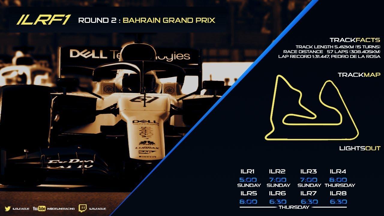 ILR4 (PS4 Tier) | Season 6 | Round 2 | Bahrain Grand Prix | Inside Line  Racing League