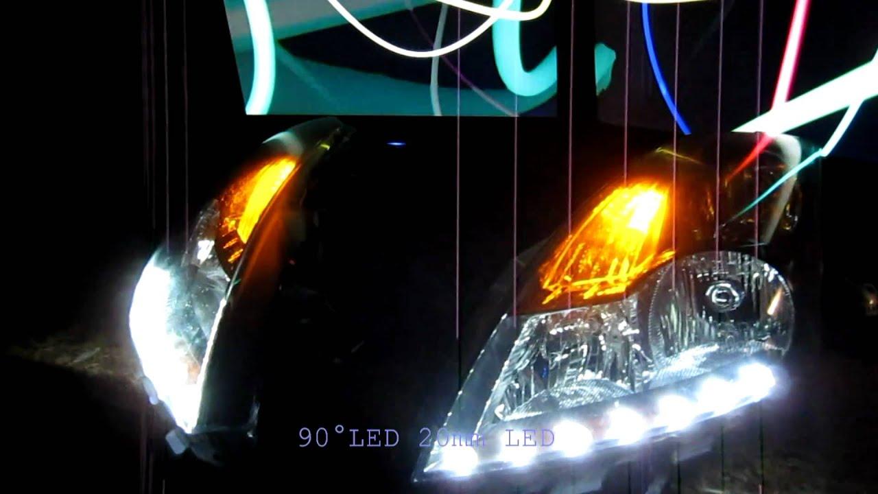 Nissan Altima Sedan Custom Headlight R8 Led Mod By Zleds