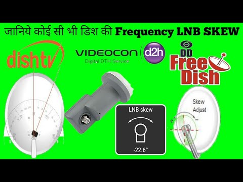 How To Know The Frequency Of Dish LNB SKEW by ALL DISH INFO