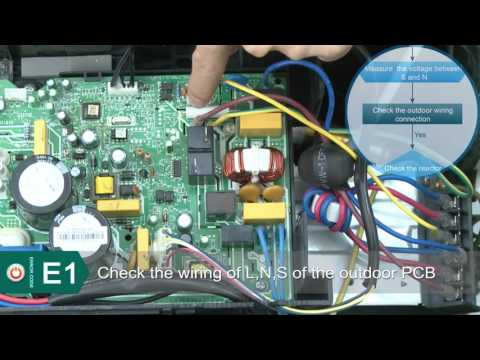 Innovair Mini Split Inverter Error Codes E1
