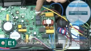 Innovair Mini Split Inverter Error Codes E1