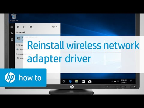 How to Reinstall a Wireless Network Adapter Driver with Device Manager in Windows
