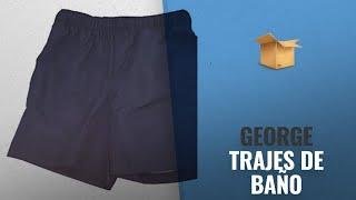 "10 Mejores Ventas De George: Dark Navy Blue Above The Knee 6"" Inseam Basic Swim Short Trunks"