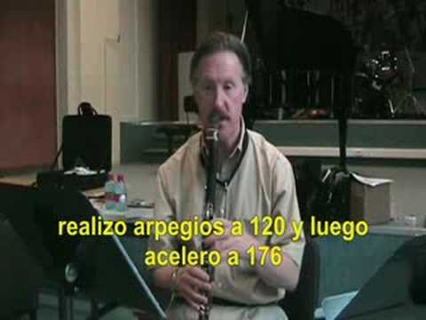 Clariperu: Robert Spring clarinet warm-up (subtitulado)