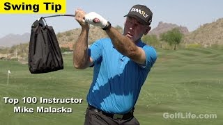 How to Swing a Golf Club to Maintain It's Weight and Force with Mike Malaska