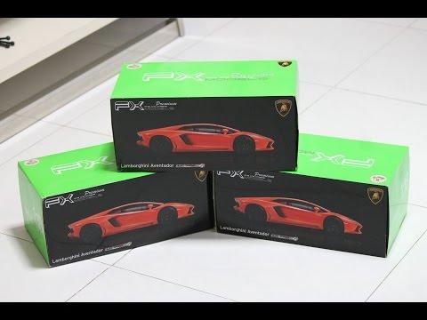 [Unboxing] 1:18 Lamborghini Aventador LP700-4 by Welly FX (Orange, Matte Black, Matte Green)