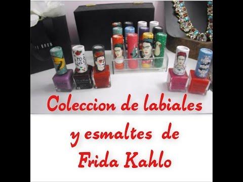 Coleccion de labiales y esmaltes de FRIDA KAHLO