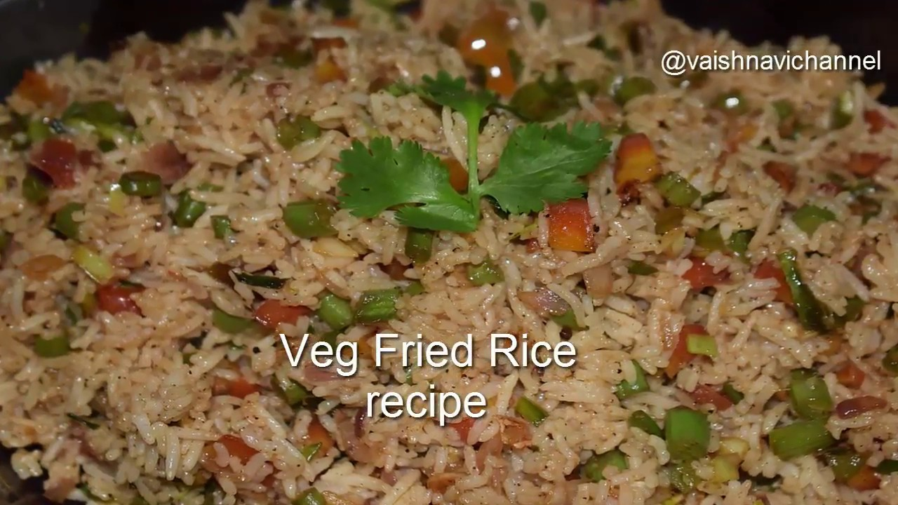 Veg fried rice recipe vegetable fried rice in kannada fried rice veg fried rice recipe vegetable fried rice in kannada fried rice in vaishnavichannel ccuart Images