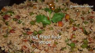 Veg Fried Rice Recipe  Vegetable Fried Rice in Kannada  Fried Rice in Vaishnavichannel