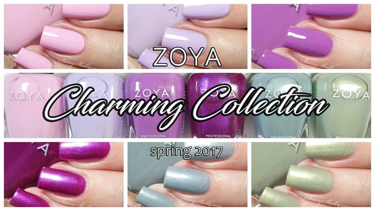 Zoya Charming Spring 2017 Nail Polish Live Swatches