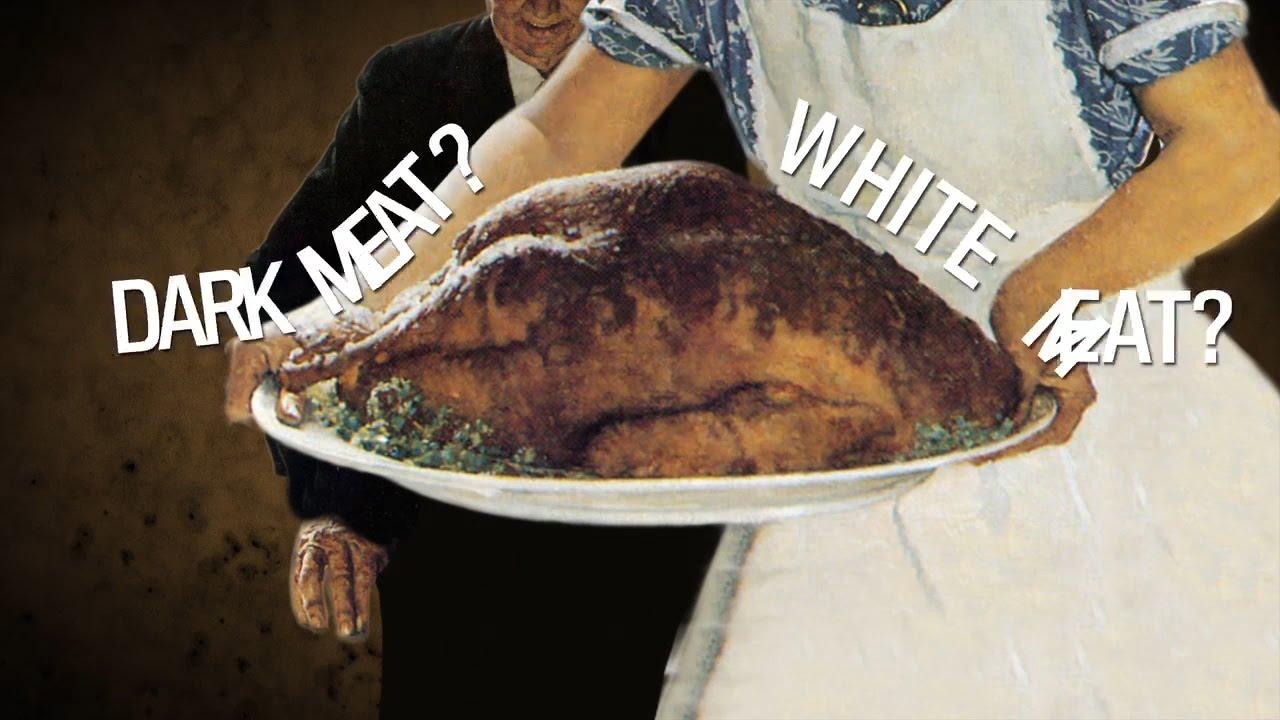 White meat on black street