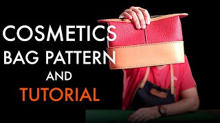 Cosmetics Leather Bag - Tutorial and Pattern Download
