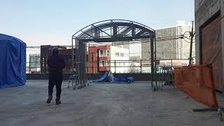 천막시공 1군건설사 폐기물보관소 자바라천막시공 (네이버…