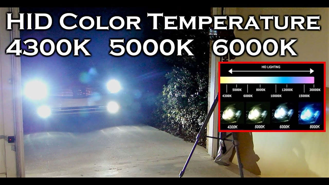 Hid xenon color temperature 4300k 5000k 6000k youtube nvjuhfo Choice Image
