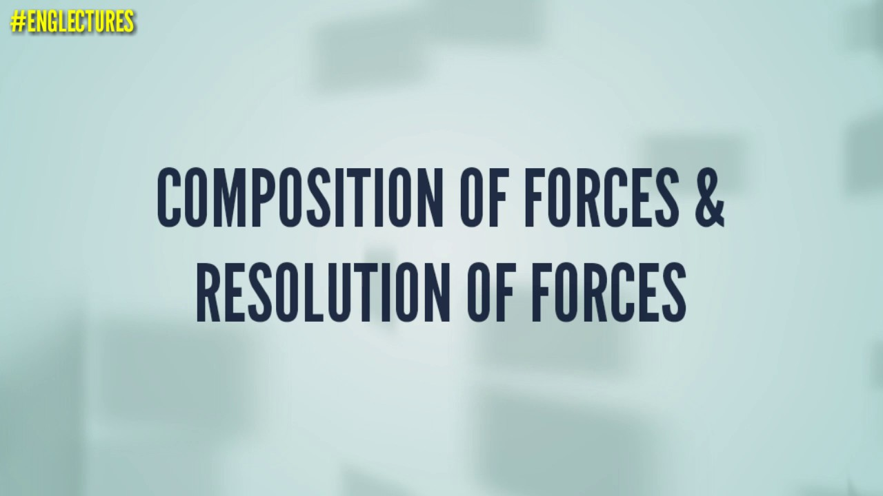 Composition of forces & Resolution of forces in hindi/Urdu ...