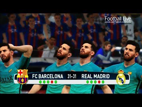 PES 2017 | Penalty Shootout | Team L.MESSI vs Team C.RONALDO | FC Barcelona vs Real Madrid