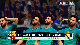 pes 2017   penalty shootout   team l messi vs team c ronaldo   fc barcelona vs real madrid